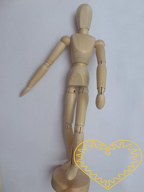 Dřevěný pohyblivý model postavy - 30 cm