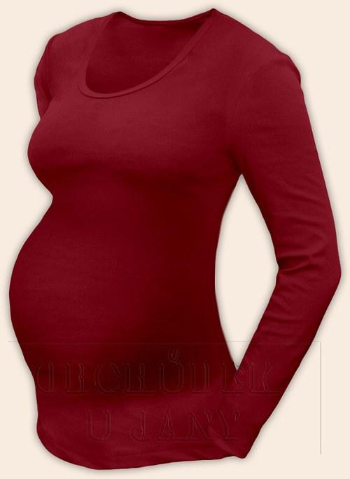 Těhotenské tričko s dlouhým rukávem