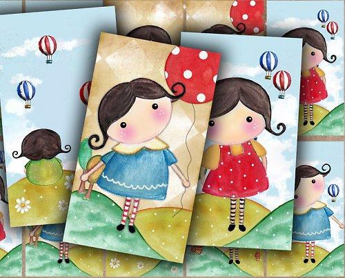 Nažehlovací obrázky - Matilda - cena za 10 ks