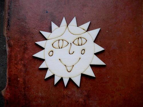 2D výřez Natálčino sluníčko pr. cca  7cm