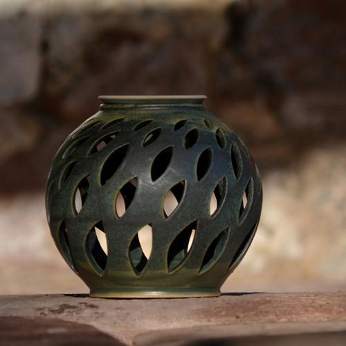Kameninové aromalampa koule Lístek - Z mechu ...