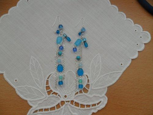 Náušnice Modrý skvost