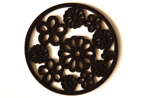 dřevěná kolečka- tmavě hnědá