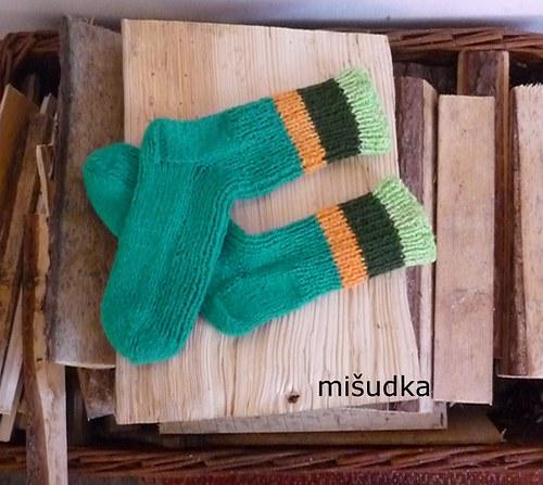 Ponožky jako od maminky -  zelené 21