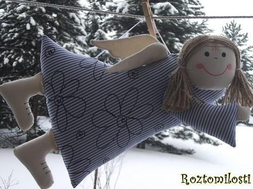 Andělská holčička-velká,autorský výrobek