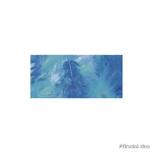 Směs barevných peří modro-tyrkysová 10 g