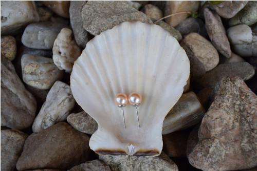 Elegantní náušnice z béžových perel