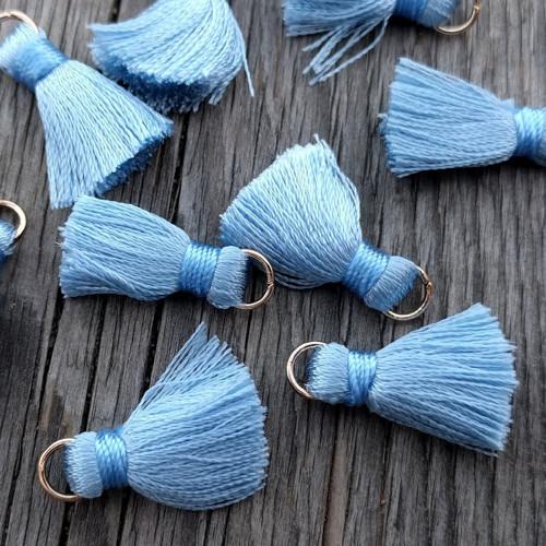 Luxusní ozdobné střapce - modré, 2 kusy