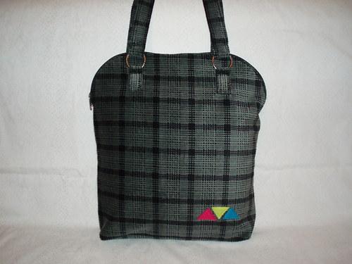 Kostkovaná taška velká