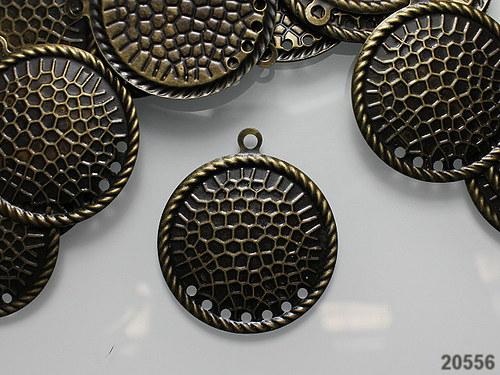 20556 Vintage ramínka kruhy BRONZ, bal.2ks