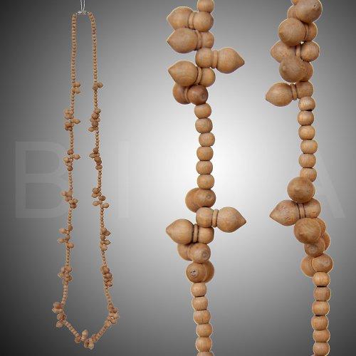 dřevěný náhrdelník béžový