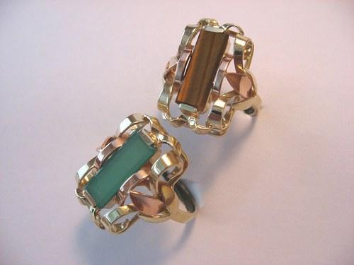Gemstone&gold brick III.:zlatý prsten s kamenem