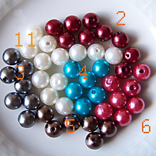 perly voskové/ bílá č.11/ 10mm/ 12ks