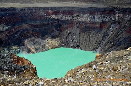 Kráter sopky Santa Ana, El Salvador