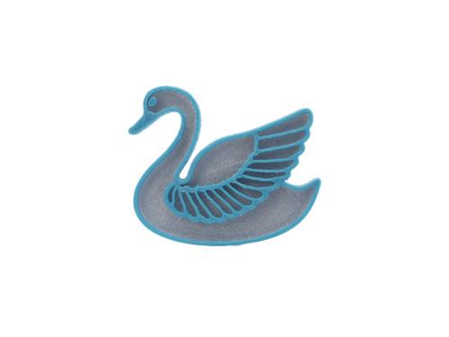 Labuť silver/turqouise blue