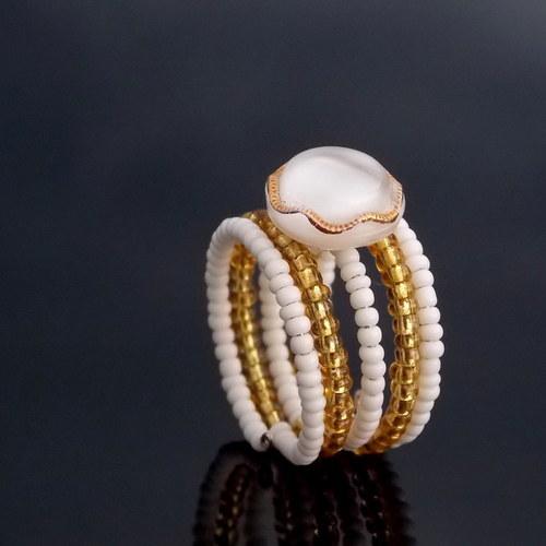 Protkávaný zlatem...prsten...SLEVA Z 99,-...