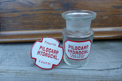 Pilocarp. Hydrochl....lékárenská lahev