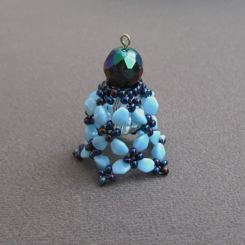 Vánoční korálkový zvoneček