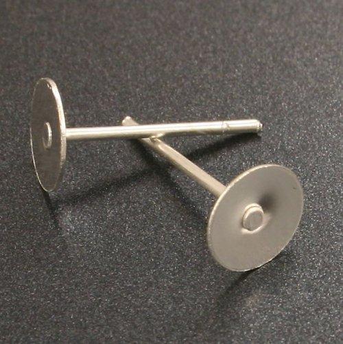 Stříbrné náušnicové puzety 12x6mm 10ks