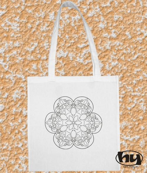"""Mandala \""""orchidej\"""" - taška k domalování"""