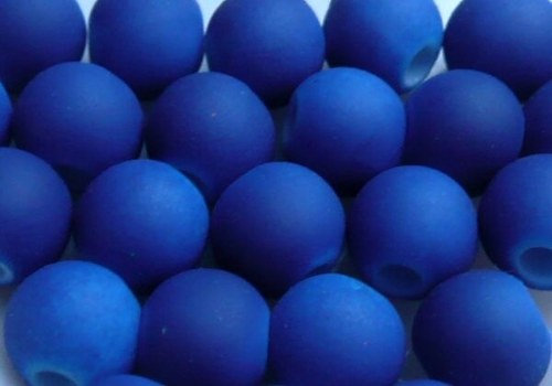 Pogumovaná kulička 6 mm - tm. modrá / 10 ks