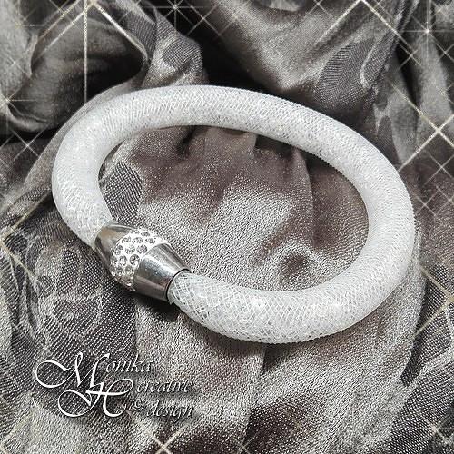 Dutinkový náramek - magnetické zapínání s kamínky