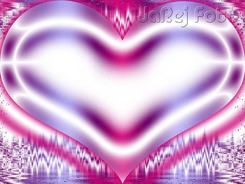 Růžovofialové srdce