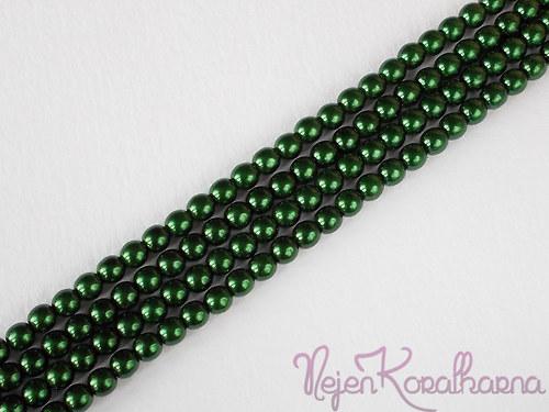 Voskové perle tmavě zelená 4mm