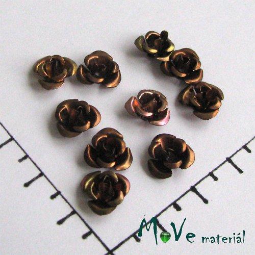 Korálek růžička 10mm, 10ks hnědá