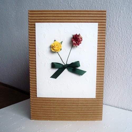 Přáníčko s růžičkami