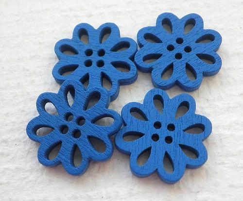 Modré knoflíky - 4ks