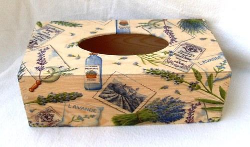 krabička na kapesníky-levandulová 2