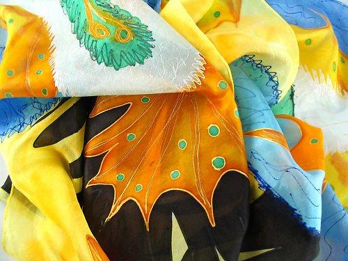 Karneval v Riu - hedvábný šátek