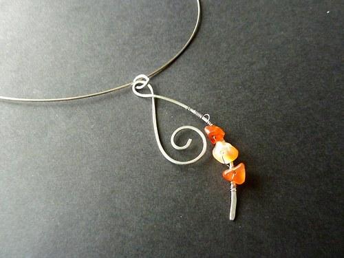 Karneolová spirálka - chirurgická ocel