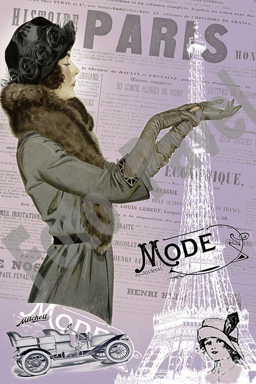 Vintage motiv - dáma v rukavičkách