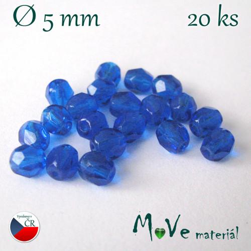 České ohňovky 5mm/20 ks, modré