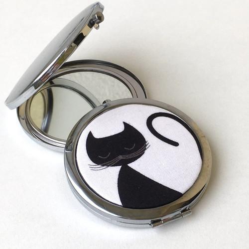 Černé kočky - zrcátko do kabelky