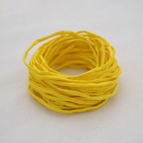 Hedvábná šňůrka žlutá