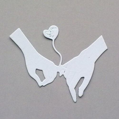 Výsek - Ruce zamilované - barva dle přání