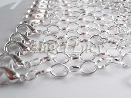 Stříbrný řetízek hotový 20 cm (8 x 4 mm)