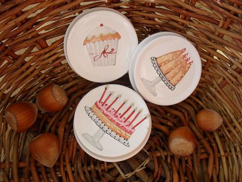 Magnetky s dortíky (3ks)
