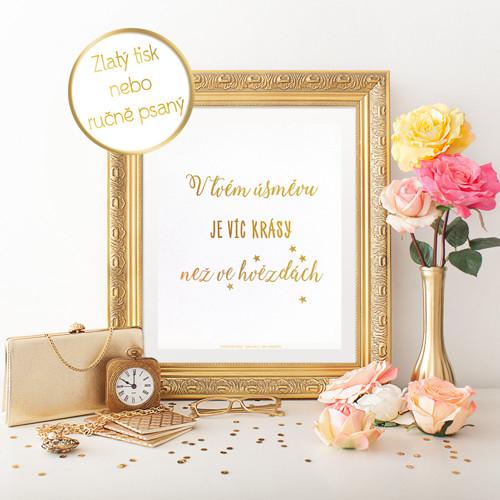Zlatý inspirujíci plakát - Hvězdy