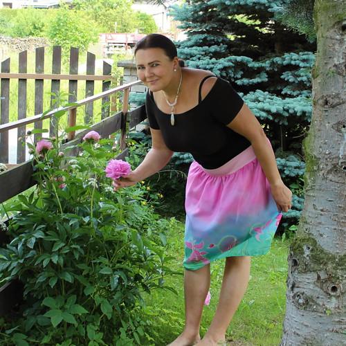 Ručně malovaná hedvábná sukně - Orlíček