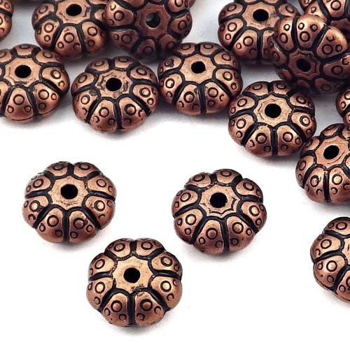 Akrylové staroměděné korálky ozdobné, 4 kusy