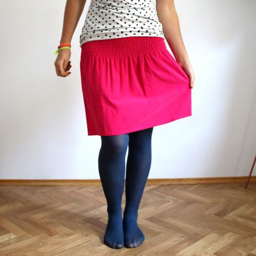 Žabková suknička, manžestrová - růžová :)