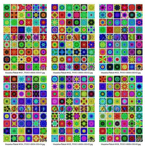 Plakát - Mandala Dlážděné Mozaiky