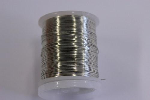 Měděný drátek 0,5mm - platina, návin 19-21m