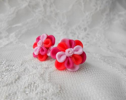 Pestrobarevky růžové květinky