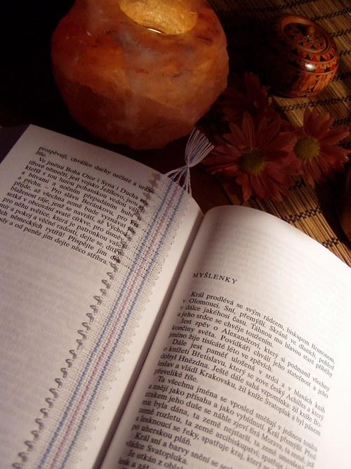 Paličkovaná záložka do knihy