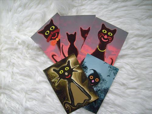 Kočko-a-jiná strašidýlka - pohlednice